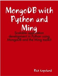 Mongodb And Python Ebook