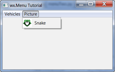 wxPython: All about Menus - The Mouse Vs  The Python
