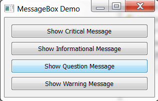 PySide: Standard Dialogs and Message Boxes - The Mouse Vs
