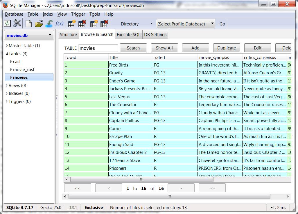 ... 6. 在Linux中以Python使用SQLite ...