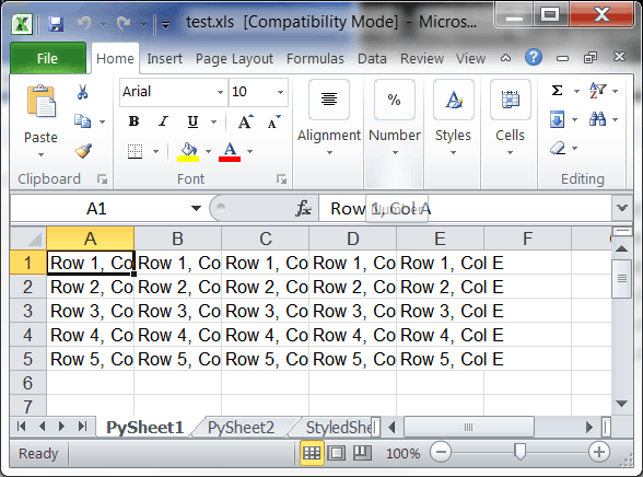 Creating Microsoft Excel Spreadsheets with Python and xlwt - The