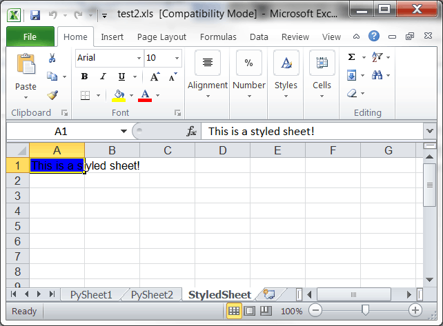 Creating Microsoft Excel Spreadsheets with Python and xlwt