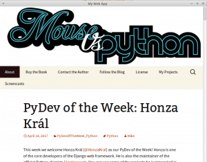Getting Started with pywebview - The Mouse Vs  The Python