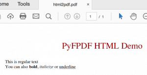 Creating PDFs with PyFPDF and Python - The Mouse Vs  The Python