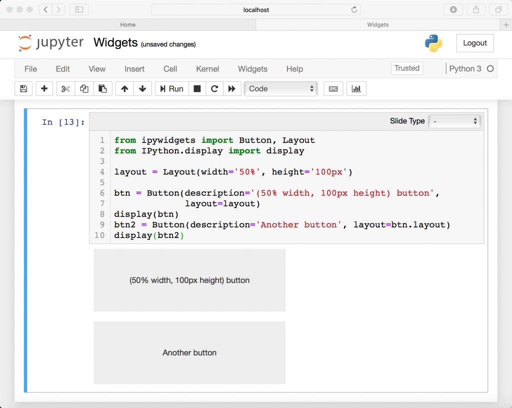 Working with Jupyter Notebook Widgets - The Mouse Vs  The Python