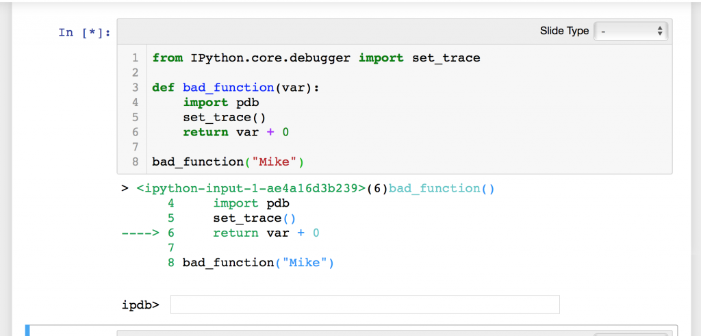 Jupyter Notebook Debugging - The Mouse Vs  The Python