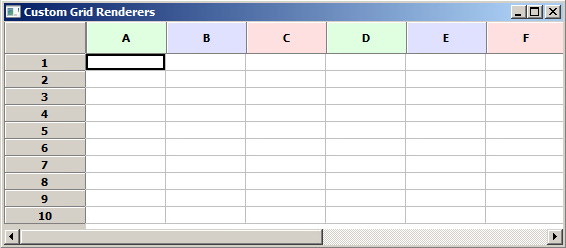 wxPython Grid widget with colored columns