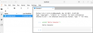 Code Console in JupyterLab