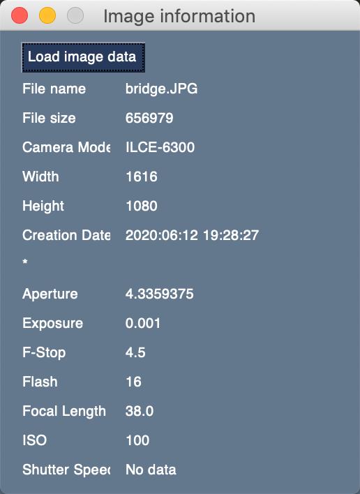 PySimpleGUI EXIF Viewer