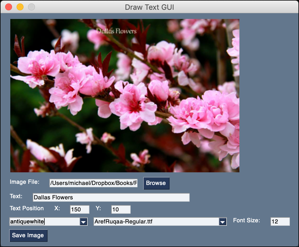 PySimpleGUI: Drawing Text on Images with a Python GUI