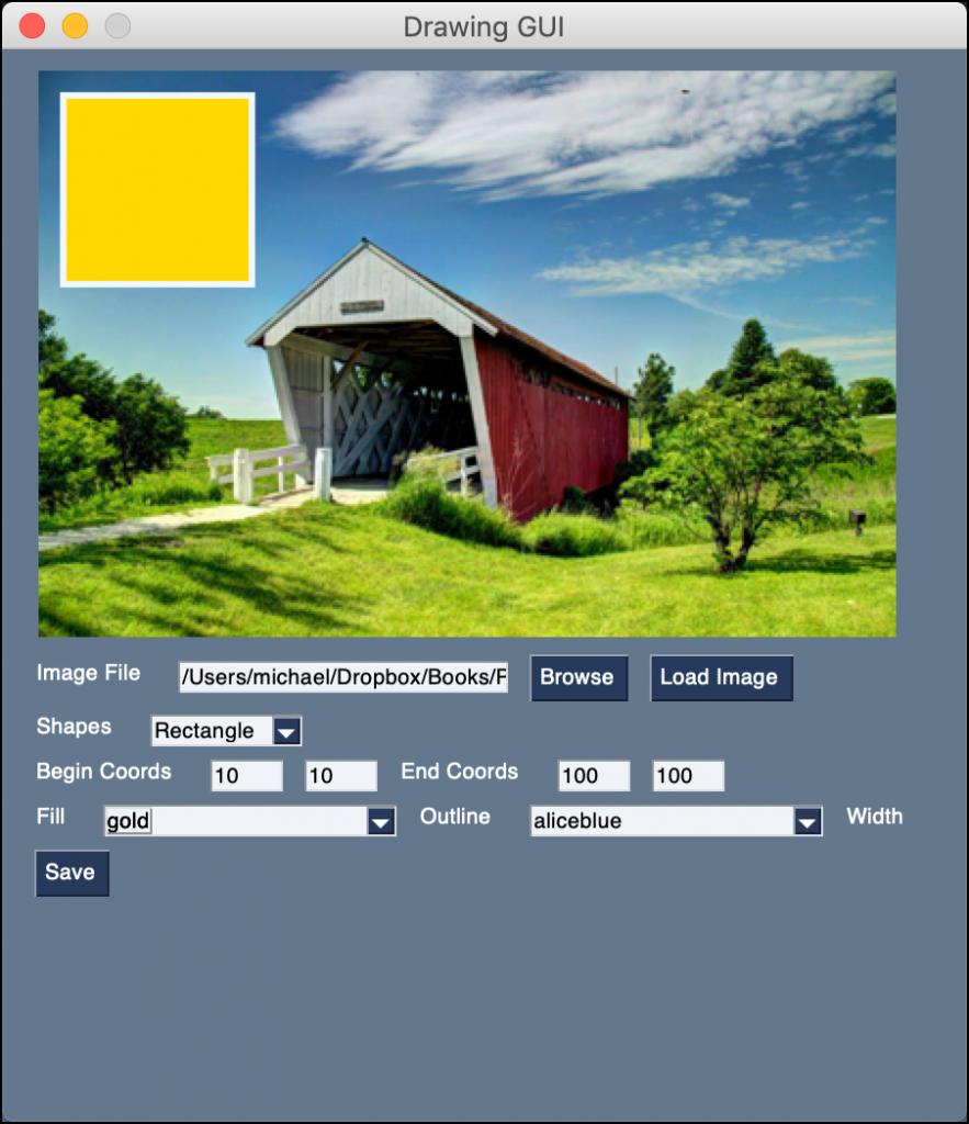 PySimpleGUI Image Shape GUI