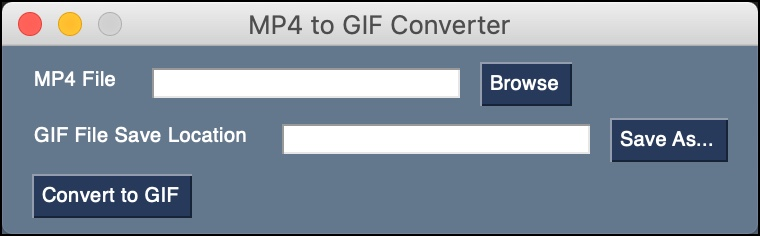 MP4 to GIF Converter GUI