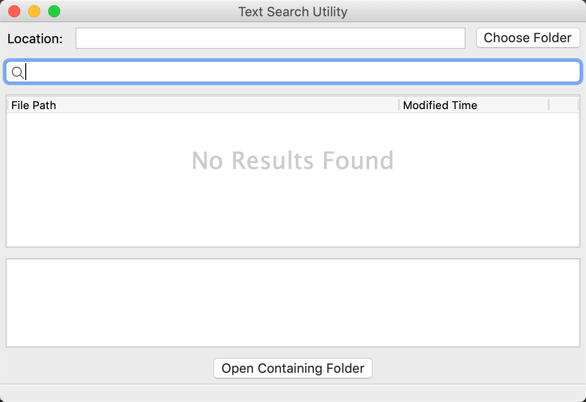 Text Search Utility