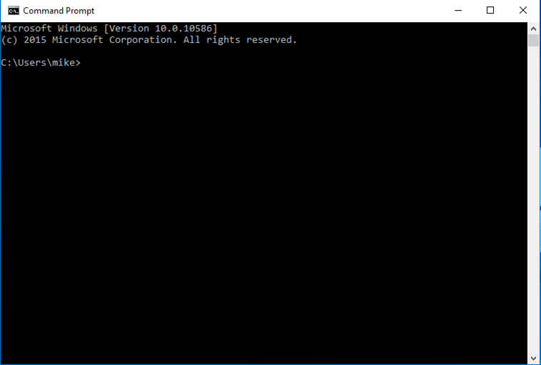 The Windows Command Prompt