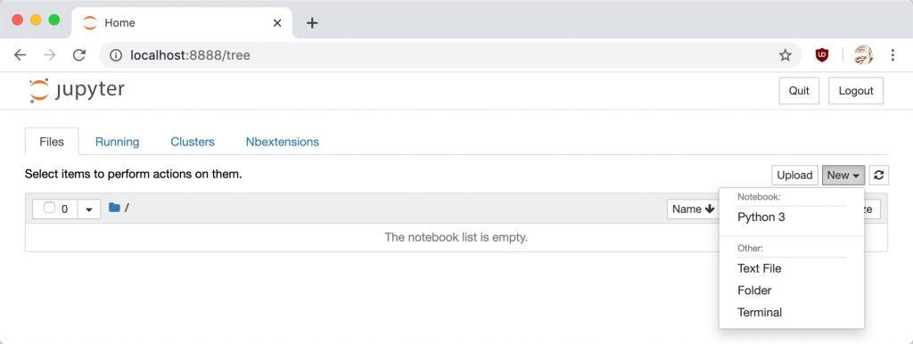 Creating a Jupyter Notebook