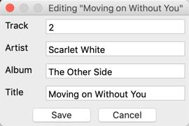 MP3 Editor dialog