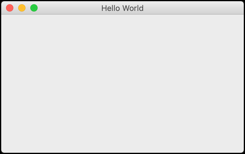 Hello World in wxPython