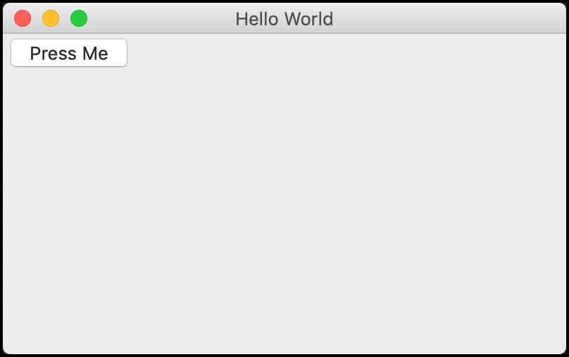 Hello World with a wxPython Panel