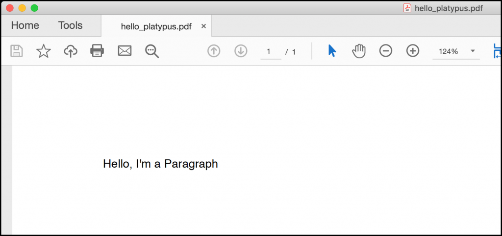 Creating a Paragraph in ReportLab