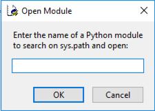Open Module dialog