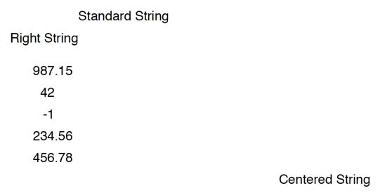 String alignment