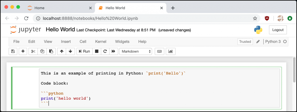 Syntax Highlighting in Markdown