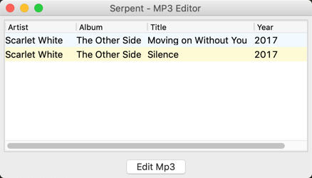 MP3 Tagger GUI