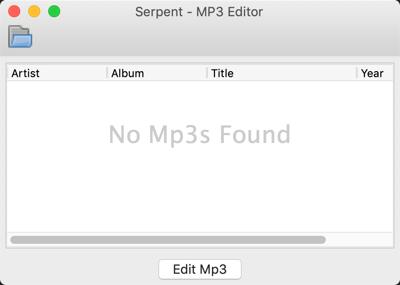 MP3 Tagger GUI (empty)